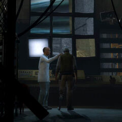 Eli and Kleiner in a different control room in the <i>Episode Two</i> trailer.