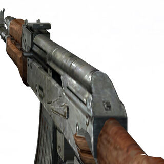 The Leak's broken AK-47 view model.