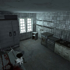 The kitchen in the playable Beta.