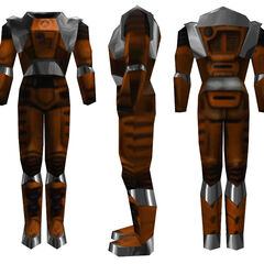 The Mark IV HEV Suit's world model from <i>Half-Life</i>, different sides.