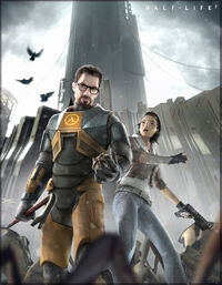 Gordon Freeman And Alyx Vance Surrounded By Beta Textured Antlions
