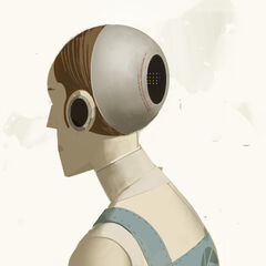 Concept art of humanoid robot.
