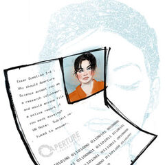 A page from Chell's file.
