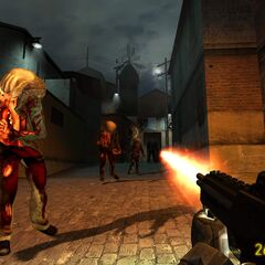 Attacking beta Zombies.