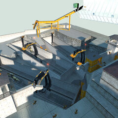 The Gunship Bays in the playable <i>Half-Life 2</i> Beta.