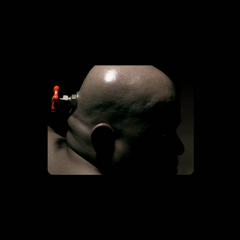 Mr. Valve turning his head in the intro to <i>Portal 2</i>.