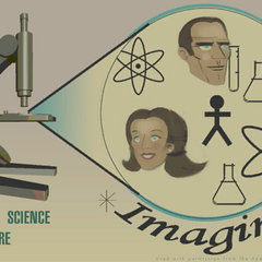 Aperture Science poster promoting science in general. Bottom right-hand corner text reads
