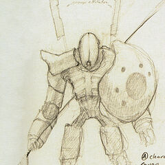 The feet here are similar to that of the Combine Super Soldier, here with a spear, and the similarities to the Combine Guard are again featured.