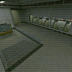 The shooting range as seen through a security camera.