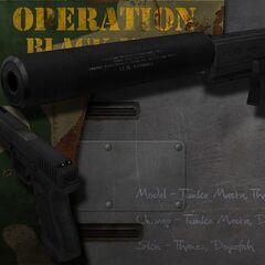 Silenced Glock 17C.