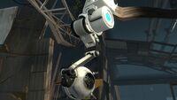 Wheatley on robot arm