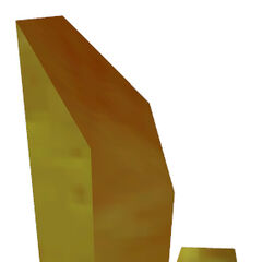 Yellow Xen crystal model used in the beam matrix in <i>Decay</i>.