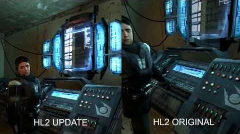 Half Life 2 Update 2015 side by side comparison