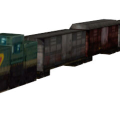 Low resolution freight train, used in the skybox near Gate 5 during the <i>Half-Life 2</i> chapter <i>Water Hazard</i>.