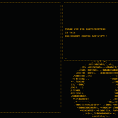 Reversed Aperture Science logo at the very end of the <i>Portal</i> credits.