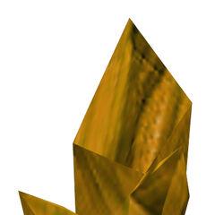 Yellow Xen crystal model.
