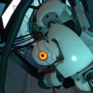 The Curiosity Core attached to GLaDOS.