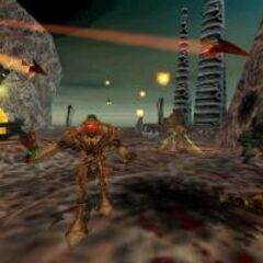 Vortigaunts, Alien Controllers and Alien Grunts attacking Barney Calhoun.