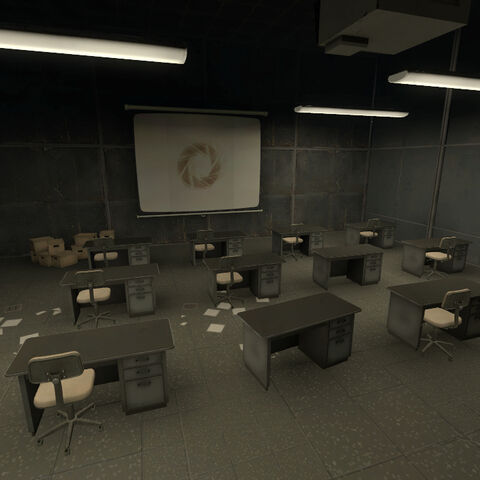 The meeting room.