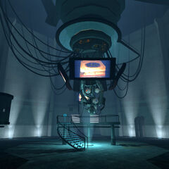 GLaDOS as seen in the Central AI Chamber.