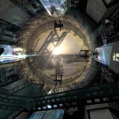 The purpose of the plasma stream: the portal.