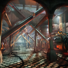 Concept art for children working in the Combine Factories.