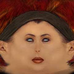 Alyx's earliest known face texture, as a Caucasian woman.