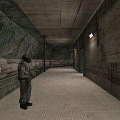 The underground hallway.