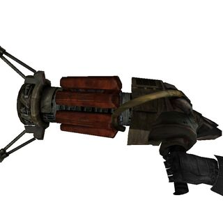 Side-on view of the Physics Gun's viewmodel.