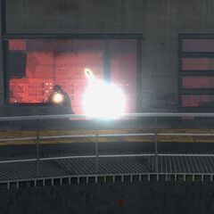 Gordon being fired at by Overwatch Soldiers in Silo 2.