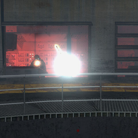 Being fired at by the Emplacement Gun in White Forest's silo 2.