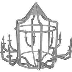 Chandelier model, without textures.