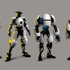 Different robot iterations.