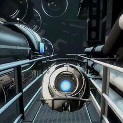 Ditto, in an E3 2010 gameplay video, with an improved Wheatley model.
