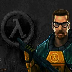 The menu screen for the Steam version of Half Life.