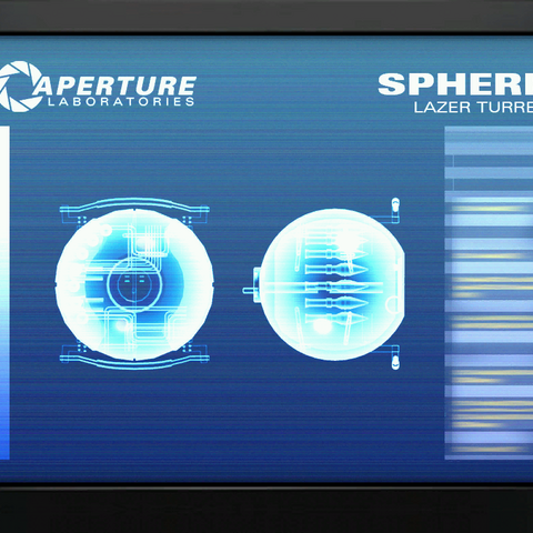 A scan of the rocket sentry's personality core, when it was meant to hover.