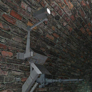 One of the two early Ceiling Turrets in the WC mappack map