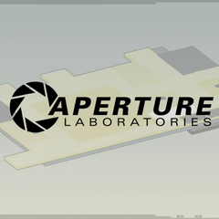Aperture Laboratories logo seen in the