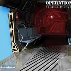 Inside of the Osprey.