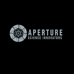 The Aperture Science Innovators logo as used in the loading screen.