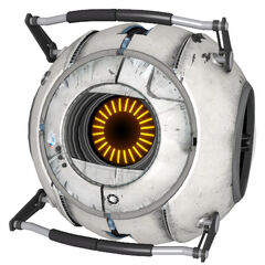 First corrupt core plugged onto Wheatley, the Space Core.