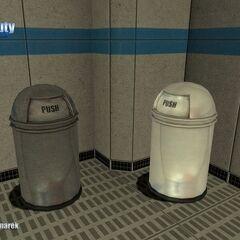 Rubbish Trash Bin Model.
