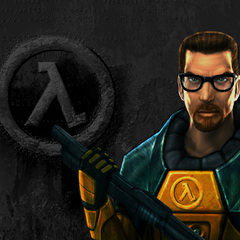 The <i>Half-Life</i> menu background, Steam version.