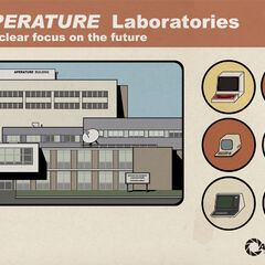 Poster for the laboratories, with Aperture misspelled as