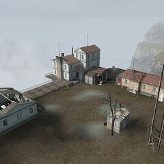The buildings in the Beta.