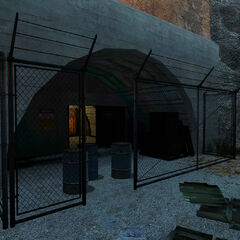 Black Mesa East's hidden main entrance seen from outside.