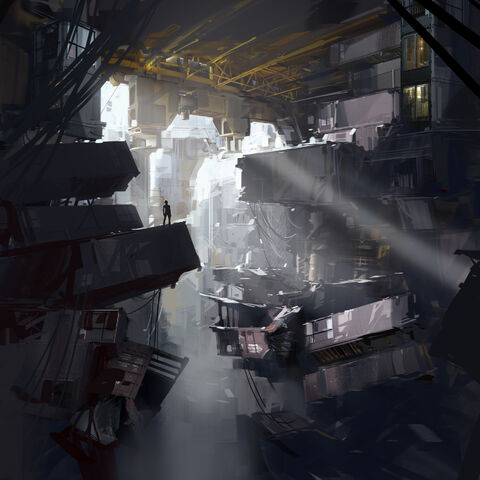 <i>This study attempts to capture the scale of a new portion of Aperture while alluding to the amount of damage that time has inflicted on the facility. You find yourself alone having to navigate through the crumbling overgrown remains in the vague hope that GLaDOS will allow you to escape.</i>