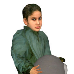 Child Citizen carrying a Cremator head.