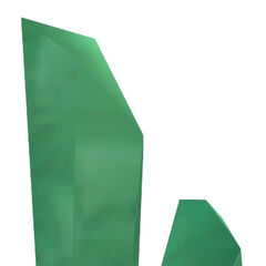 Green Xen crystal model used in the beam matrix in <i>Decay</i>.