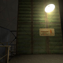 Sign after Test Chamber 02.